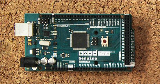 Arduino (ora Genuino) Mega - foto via qui.