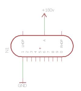 Simbolo circuitale del tubo nixie